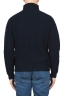 SBU 01860_19AW Blue turtleneck sweater in pure wool fisherman's rib 05