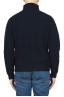 SBU 01860_19AW Jersey de cuello alto de pescador azul en pura lana 05