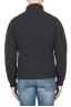 SBU 01861_19AW Pullover collo alto in pura lana a costa inglese grigio 05