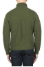 SBU 01862_19AW Green turtleneck sweater in pure wool fisherman's rib 05
