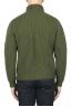 SBU 01862_19AW Pullover collo alto in pura lana a costa inglese verde 05