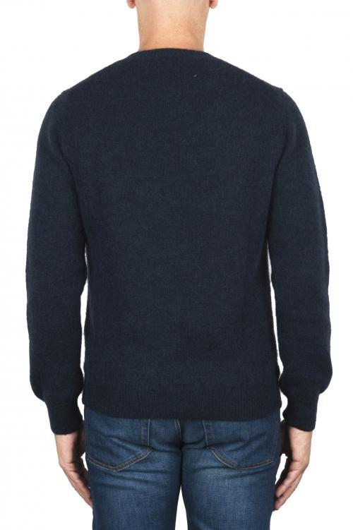 SBU 01863_19AW ブルーアルパカとウールのブレンドクルーネックセーター 01