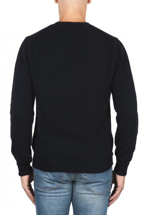 SBU 01864_19AW Jersey con cuello redondo en mezcla de alpaca y lana azul marino 01