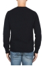 SBU 01864_19AW Jersey con cuello redondo en mezcla de alpaca y lana azul marino 05