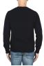 SBU 01864_19AW Navy blue alpaca and wool blend crew neck sweater 05