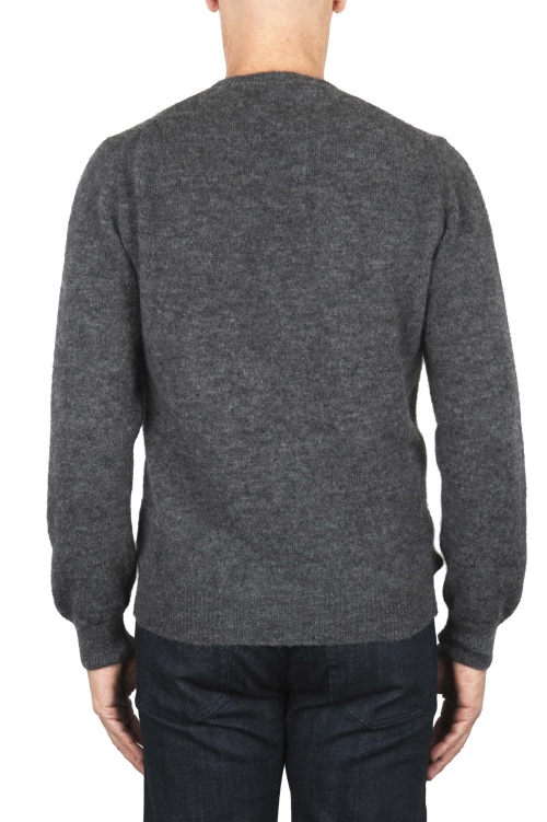 SBU 01865_19AW Grey alpaca and wool blend crew neck sweater 01