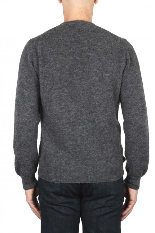 SBU 01865_19AW Jersey con cuello redondo en mezcla de alpaca y lana gris 01