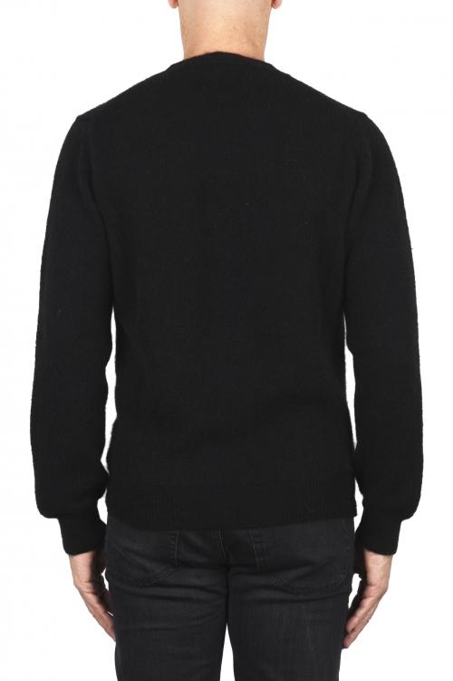 SBU 01866_19AW Jersey con cuello redondo en mezcla de alpaca y lana negro 01
