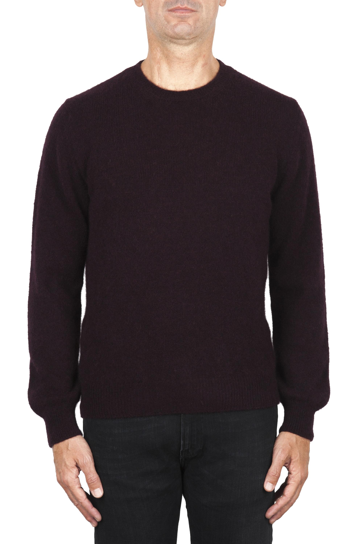 SBU 01867_19AW Jersey con cuello redondo en mezcla de alpaca y lana burdeos 01