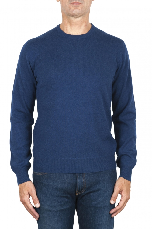 SBU 01869_19AW Blue avion pure cashmere crew neck sweater 01