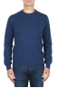 SBU 01869_19AW Suéter con cuello redondo de pura cachemira azul avion  01