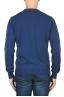 SBU 01869_19AW Suéter con cuello redondo de pura cachemira azul avion  05