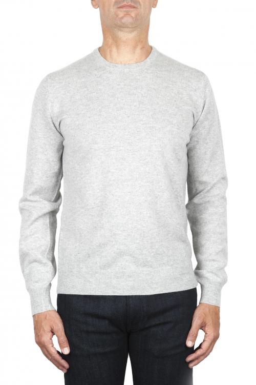SBU 01870_19AW Suéter con cuello redondo de pura cachemira gris 01