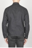SBU - Strategic Business Unit - Stone Washed Black Work Jacket In Mixed Cotton And Linen
