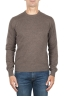 SBU 01872_19AW Brown pure cashmere crew neck sweater 01