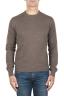 SBU 01872_19AW Suéter con cuello redondo de pura cachemira marrón 01