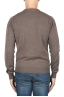 SBU 01872_19AW Brown pure cashmere crew neck sweater 05