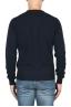 SBU 01874_19AW Jersey azul con cuello redondo en lana merino extra fino 05