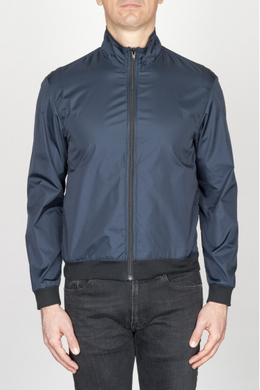 SBU - Strategic Business Unit - Giubbino Windbreaker Antivento In Nylon Ultra Leggero Blue