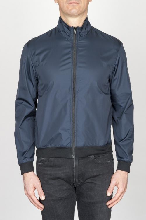 SBU - Strategic Business Unit - Windbreaker Jacket In Blue Ultra Lightweight Nylon