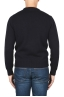 SBU 01877_19AW Blue crew neck sweater in merino wool extra fine 05