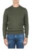SBU 01879_19AW Maglia girocollo in lana merino extra fine verde 01