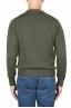 SBU 01879_19AW Maglia girocollo in lana merino extra fine verde 05