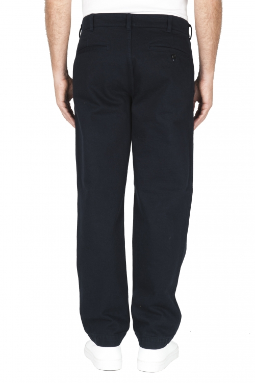 SBU 01880_19AW Pantalones confort de algodón azul 01