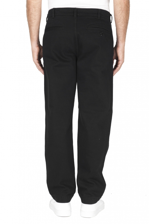 SBU 01881_19AW Pantalon confort en coton noir 01
