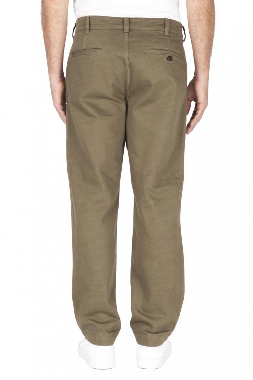 SBU 01882_19AW Pantalon confort en coton vert 01
