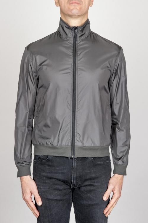 SBU - Strategic Business Unit - Windbreaker Jacket In Grey Ultra Lightweight Nylon