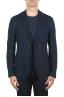 SBU 01891_19AW Blazer de lana y algodón azul desestructurada y sin forro 01