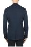 SBU 01891_19AW Blazer bleu en laine et coton déstructurés  et sans doublure 05