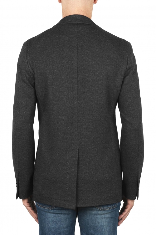 SBU 01892_19AW Blazer gris en laine et coton déstructurés  et sans doublure 01