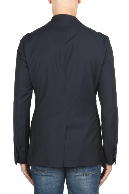 SBU 01894_19AW Blazer bleu en laine fraîche déstructurés  et sans doublure 01