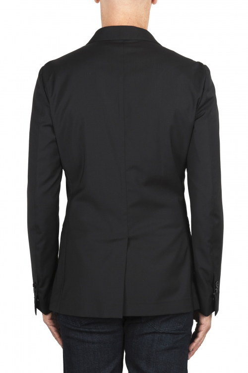 SBU 01896_19AW Black cool wool jacket unconstructed and unlined 01