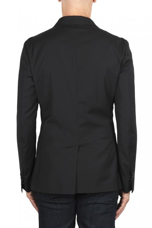SBU 01896_19AW Blazer de lana fresca negro desestructurada y sin forro 01