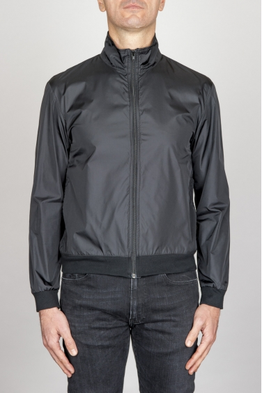 SBU - Strategic Business Unit - Giubbino Windbreaker Antivento In Nylon Ultra Leggero Nero