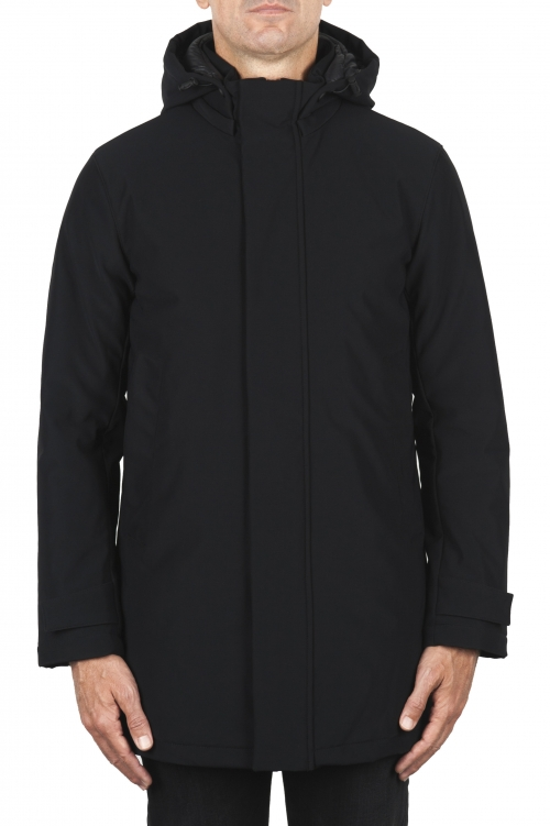 SBU 01901_19AW Black thermic waterproof long parka 01