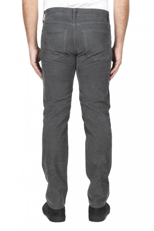 SBU 01457_19AW Jeans elasticizzato in velluto millerighe a coste sovratinto prelavato grigio 01