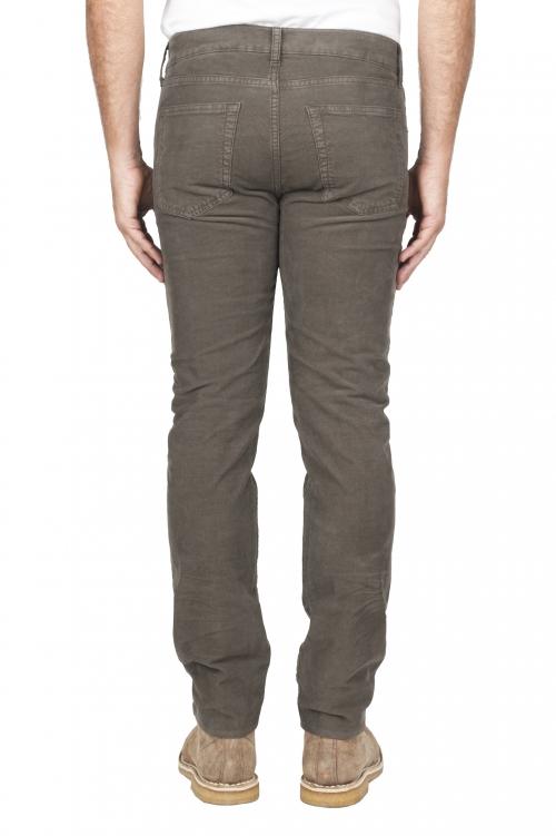 SBU 01460_19AW Jeans elasticizzato in velluto millerighe a coste sovratinto prelavato oliva 01