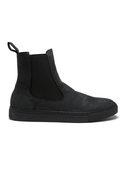 SBU 01507_19AW Classic elastic sided boots in grey nubuck calfskin leather 01