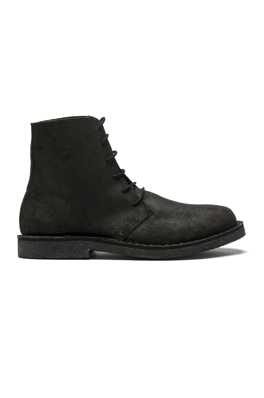 SBU 01508_19AW Classic high top desert boots in pelle oleata nera 01