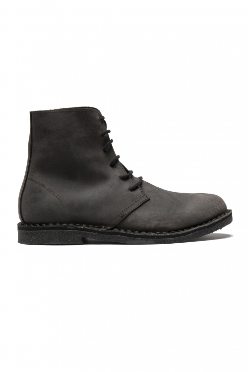SBU 01512_19AW Classic high top desert boots in pelle spalmata marroni 01