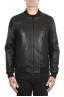 SBU 01903_19AW Black leather bomber jacket 01