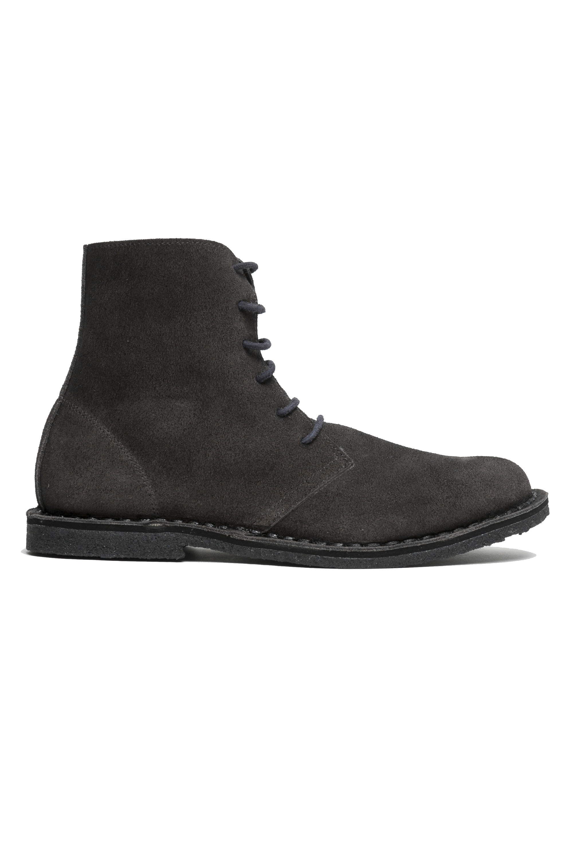 SBU 01911_19AW High top desert boots in grey suede leather 01