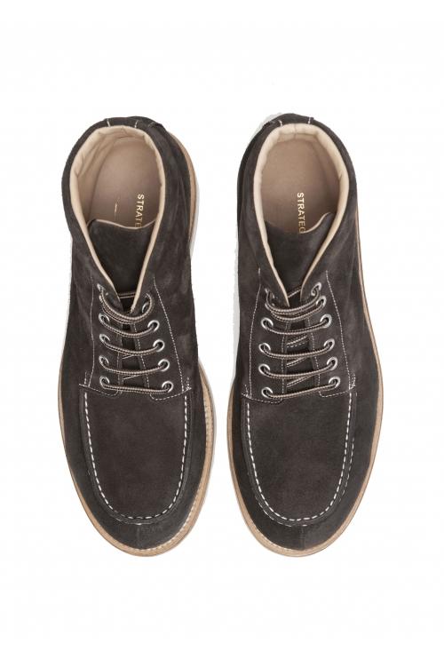 SBU 01917_19AW Scarpe da lavoro classiche in pelle scamosciata marrone 01