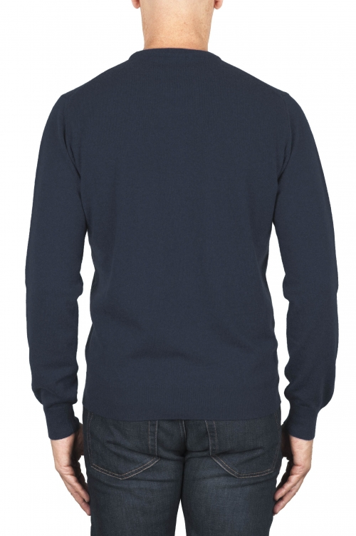 SBU 01919_19AW Blue avion pure cashmere crew neck sweater 01