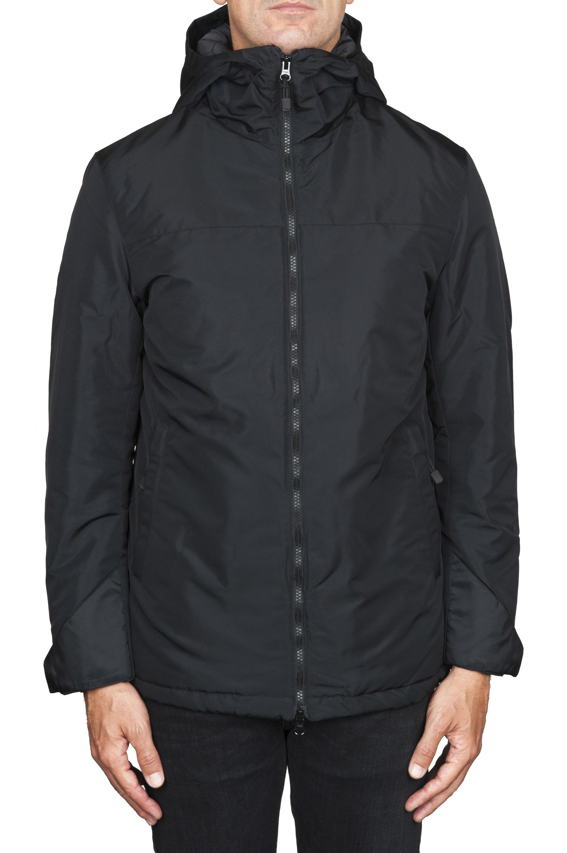 SBU 01554_19AW Technical waterproof padded short parka jacket black 01