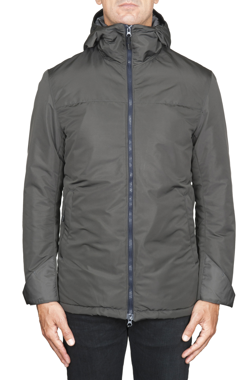 SBU 01556_19AW Technical waterproof padded short parka jacket grey 01